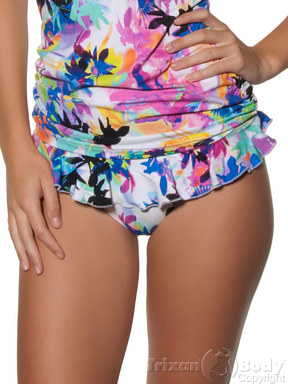 Seafolly Shangri-La Hipster Pant With Frill at Trixan Body