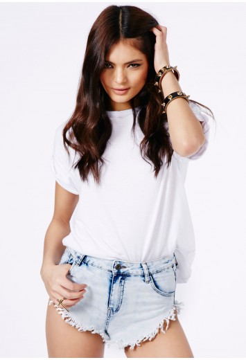 Errin Frayed Bleached Shorts - Shorts - Missguided