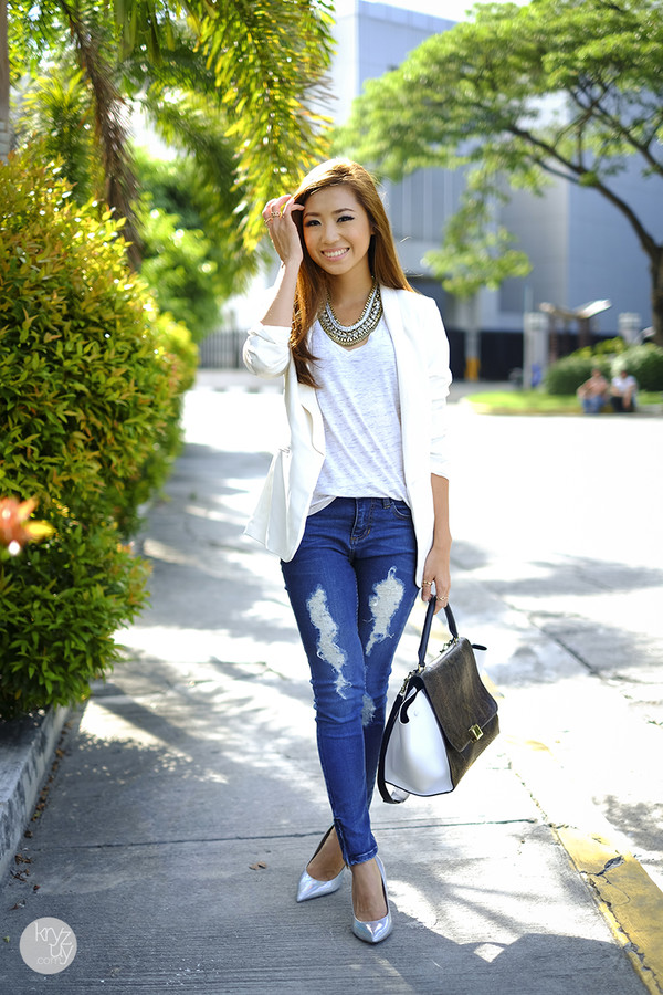 kryzuy jacket top jeans shoes jewels bag