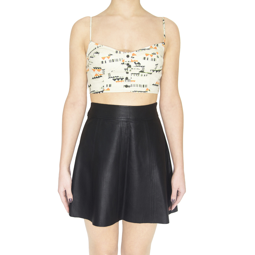 PJK Patterson J. Kincaid Polly Flirty Leather Skirt / TheFashionMRKT