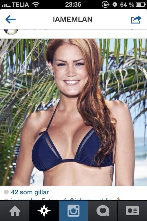 swimwear bikini bikini top blue bikini triangle bikini
