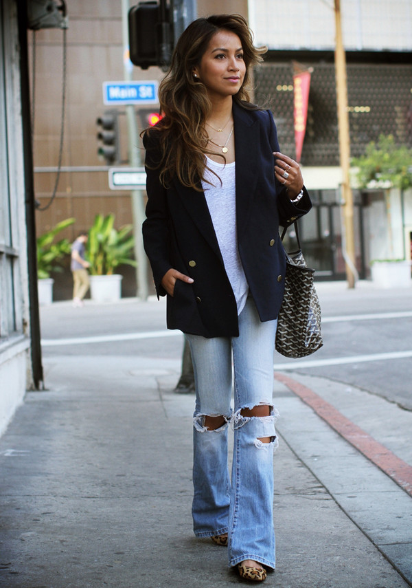 sincerely jules jacket tank top jeans