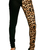 Tripp NYC Split Leg Jeans Leopard Print  - TrashandVaudeville.com