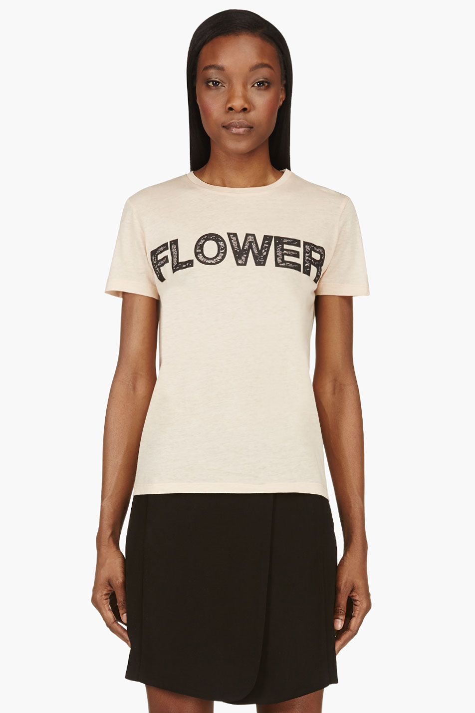 christopher kane peach flower t_shirt