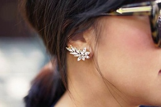 jewels earrings jewelry diamonds studs bling ear cuff accessory accessories trendy cuff