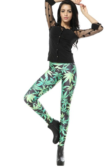 Forest Style Printed Leggings [FBBI00107]- US$ 27.99 - PersunMall.com