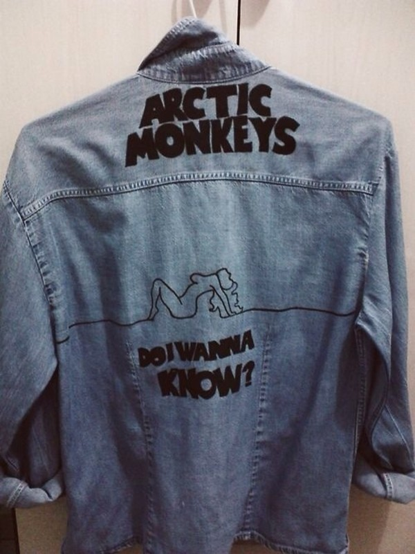 jacket arctic monkeys denim jacket do i wanna know favorite favourite cute song quote on it band denim vintage denim jacket soft grunge