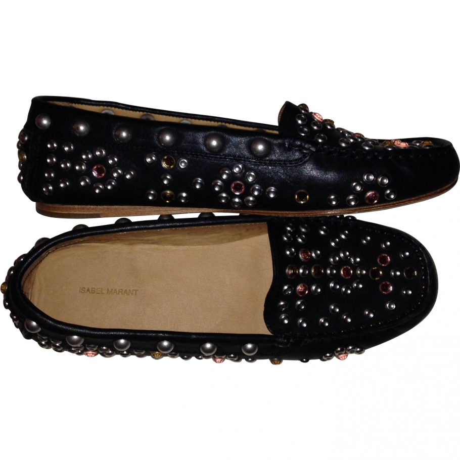 Loafers ISABEL MARANT Black size 38 EU in Leather All seasons - 777677