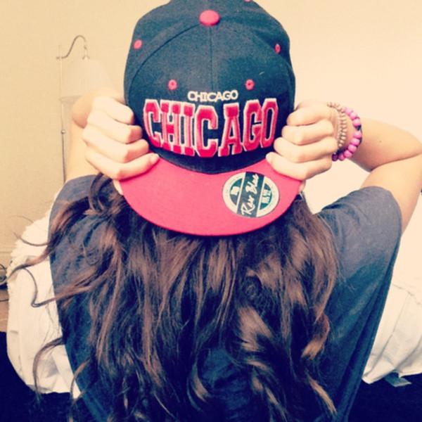 hat snapback chicago chicago bulls red black guys girl cute rebel cool story bro