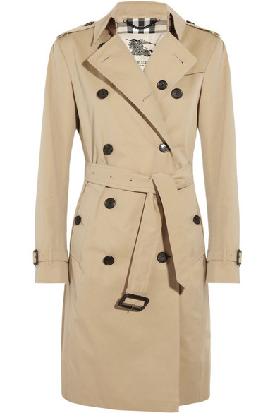 Burberry London|Cotton-twill trench coat|NET-A-PORTER.COM