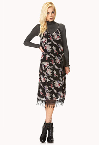 Passion Floral Chiffon Dress | FOREVER21 - 2000073249