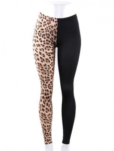 Half Animal Print Leggings | Clothing | Womens Clothing, Shoes, Jewelry & Plus Sizes | B. De'Lish