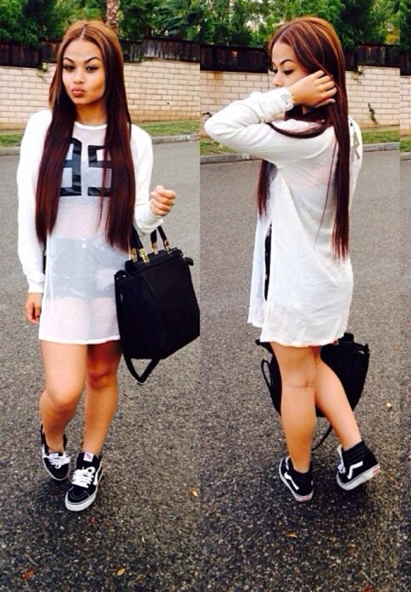 shirt jersey long sleeve dress white streetstyle streetwear model sporty shoes shorts