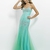 Gorgeous Mermaid V-neck Jewels Tulle Prom Dress PD11686