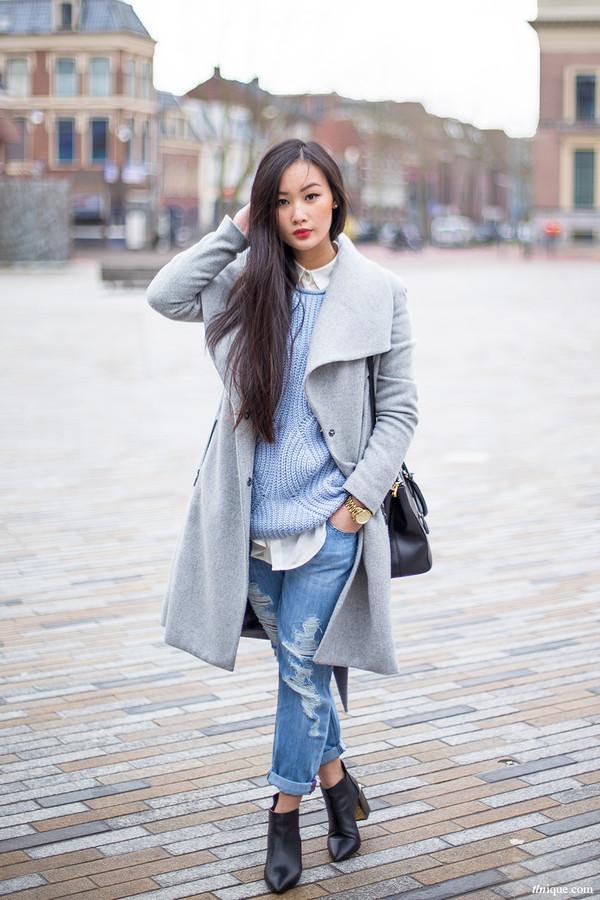 tlnique coat jeans sweater shoes bag