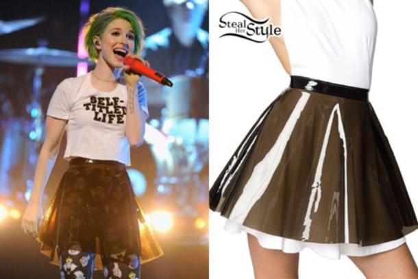 skirt hayley williams skater skirt shirt tights