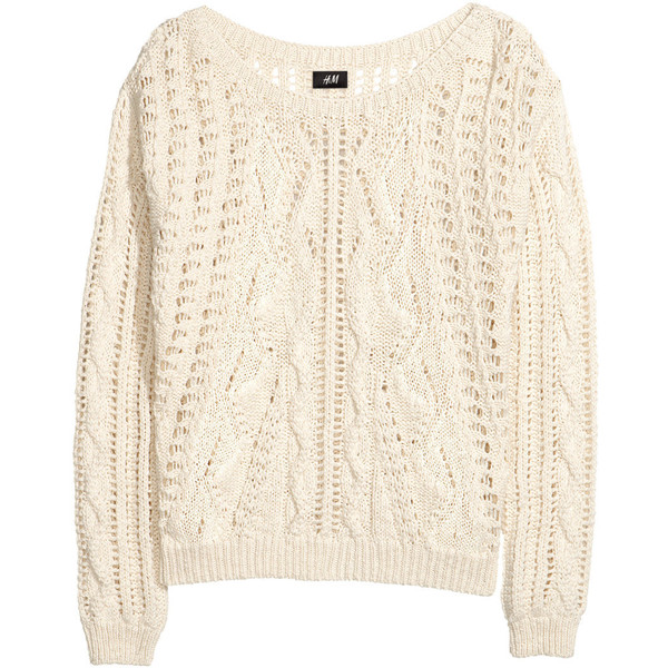 H&M Pattern-knit jumper - Polyvore