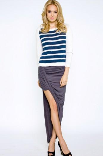 Rayon Asymmetric Skirt- $28