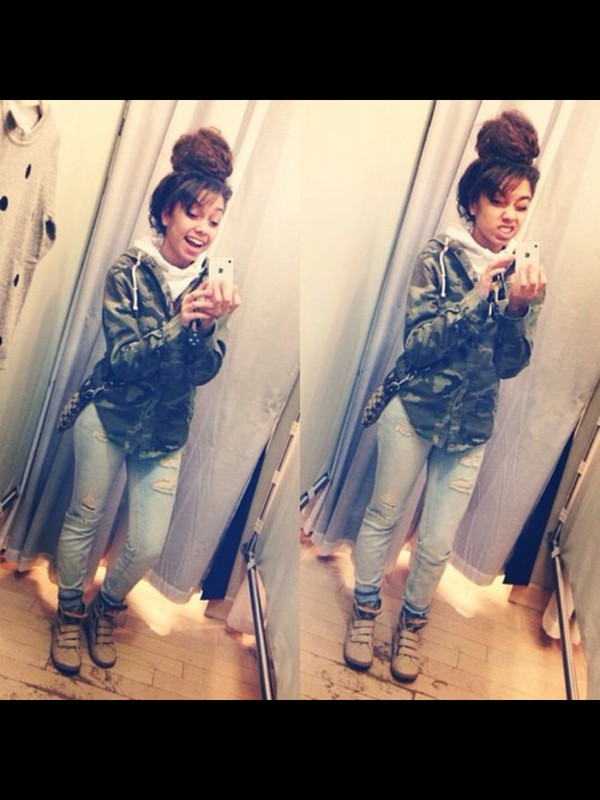 jacket rippe ripped shoes wedges camouflage camo jacket camofleece jacket jeans