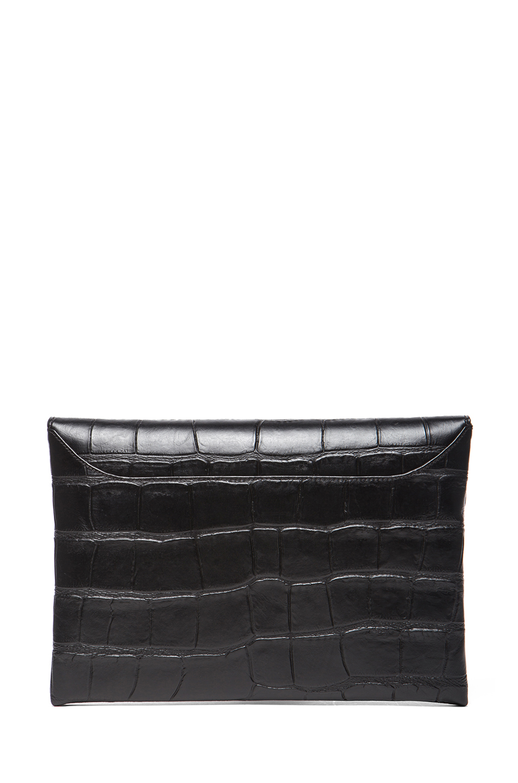 GIVENCHY|Medium Stamped Croc Antigona Envelope in Black