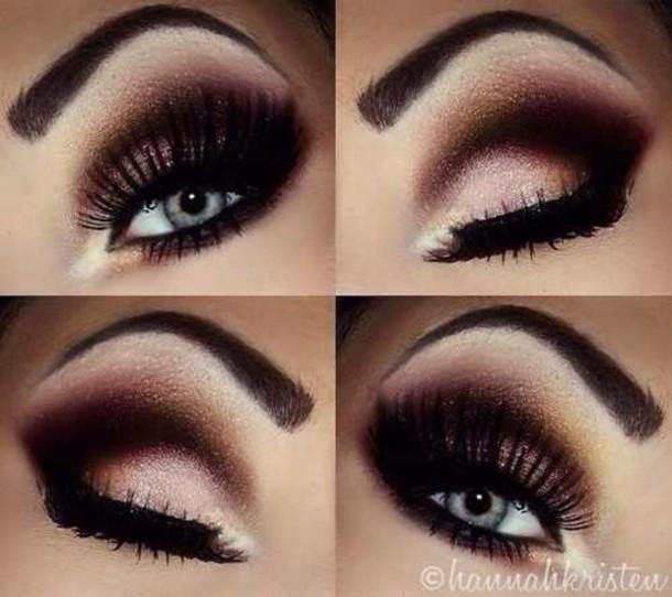 make-up black and white eyeshadow