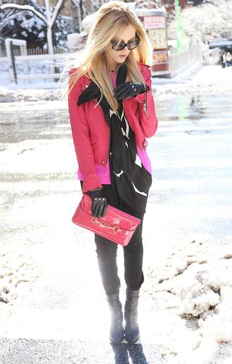 cheyenne meets chanel t-shirt pants shoes jacket scarf bag sunglasses jewels