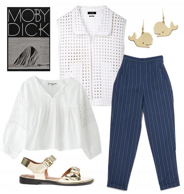 shirt blouse pants jewels shoes