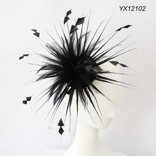 Free Shipping 2013 New Wedding/Wedding Party Black Feather Fascinator/ Hair Accessories/Headpiece /Women Hair Accessories-in Apparel & Accessories on Aliexpress.com