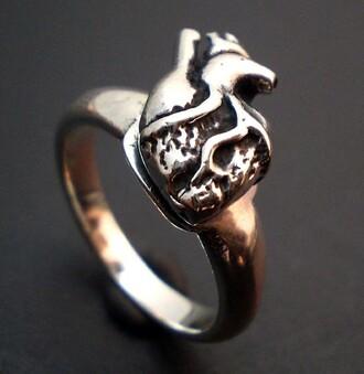 anatomical heart romantic heart sterling silver science jewels biker gift ideas