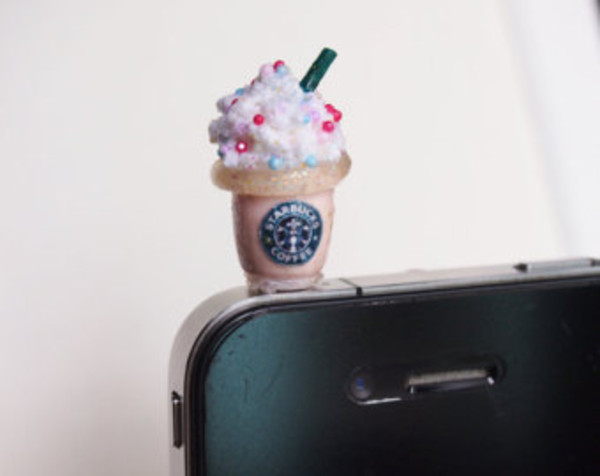 jewels iphone starbucks coffee charm cute coffee