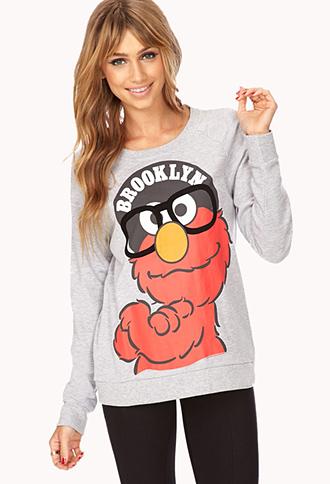 Chic Brooklyn Elmo Sweatshirt | FOREVER21 - 2000111465