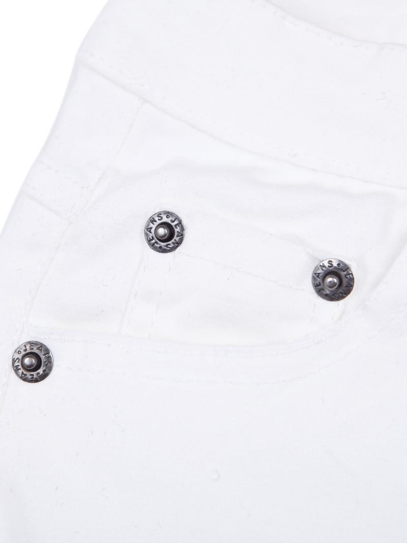 White Simple Design Fringe Pockets Shorts - Sheinside.com