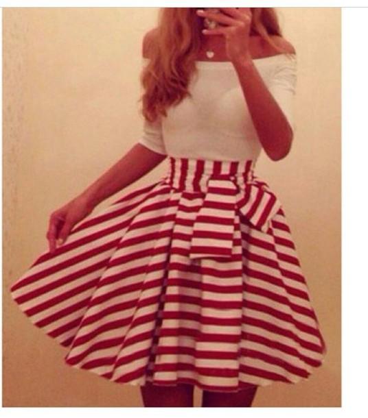 skirt stripes skirt