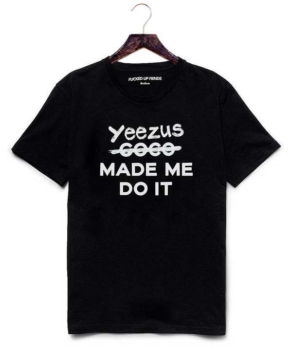 t-shirt yeezus kanye west kimye better off dead fucked up fiends anti anti black cotton chanel chanel ssur