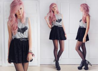 tank top muscle tee batman skirt black skirt lace skirt batman tank