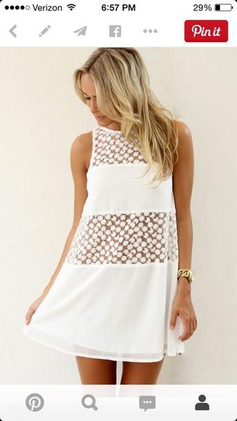 dress white floral