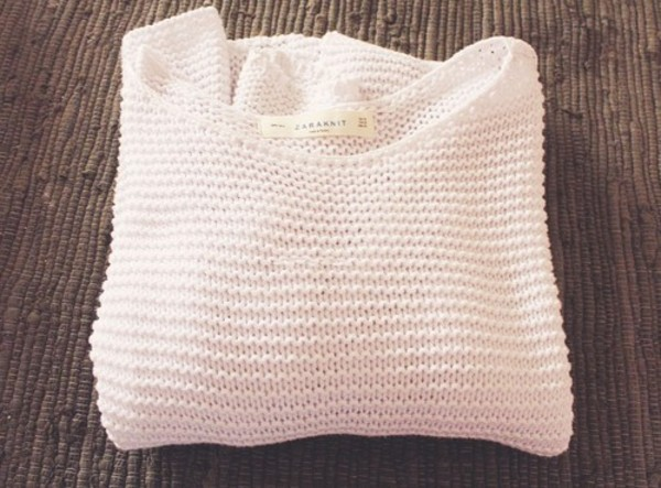 sweater white white knit white knitted white knit sweater knitted sweater oversized sweater fall sweater winter sweater zara knitwear sweater weather