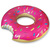 Giant Floating Donut Shaped Swimming Pool Water Float Blow Up Toy 4' River Tube | eBay