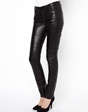 Esprit   Esprit Leather Skinny Pant at ASOS