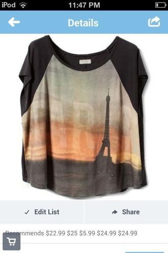 t-shirt eiffel tower