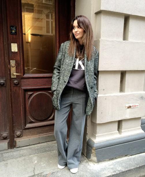 by funda blogger wide-leg pants calvin klein