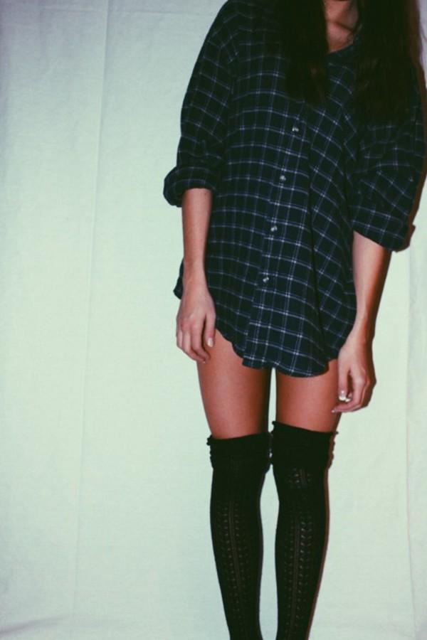 blouse flannel flannel shirt plaid black white long sleeves button up button up blouse button up shirt socks