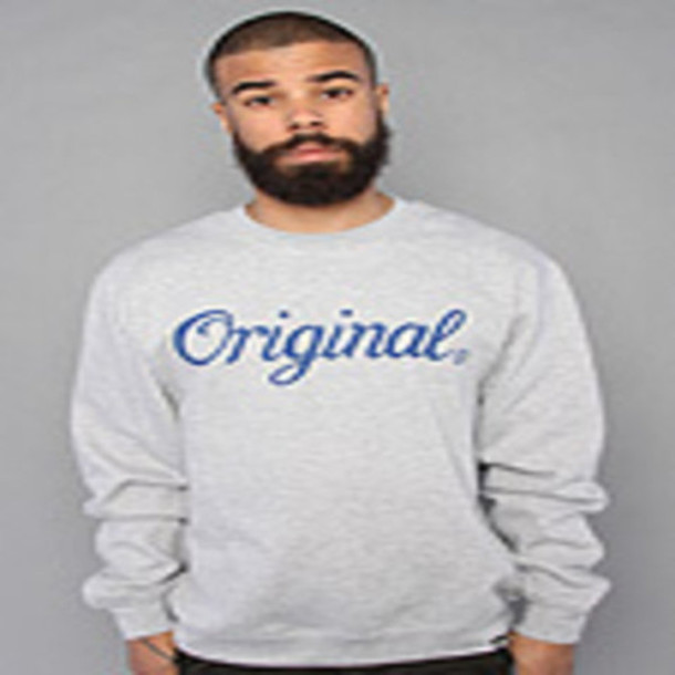 grey sweater crewneck sweater kr3w original crewneck