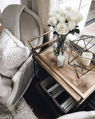 home accessory tumblr home decor furniture home furniture flowers table chair knitted pillow pillow chunky knit