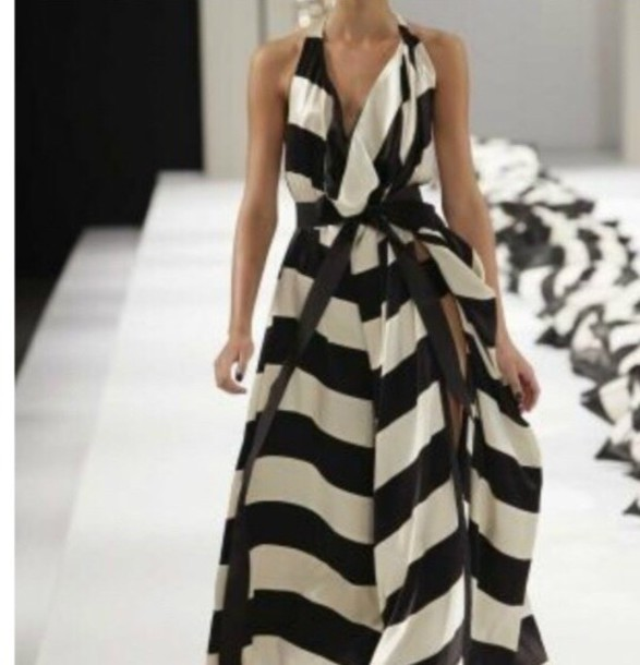 dress black and white striped dress
