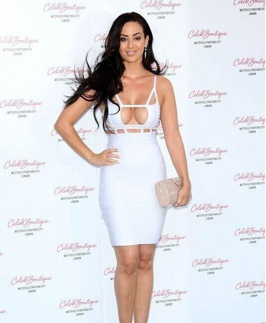 Women Celeb Sexy Cut Out Bandage Bodycon Evening Party Clubwear White Dress   eBay