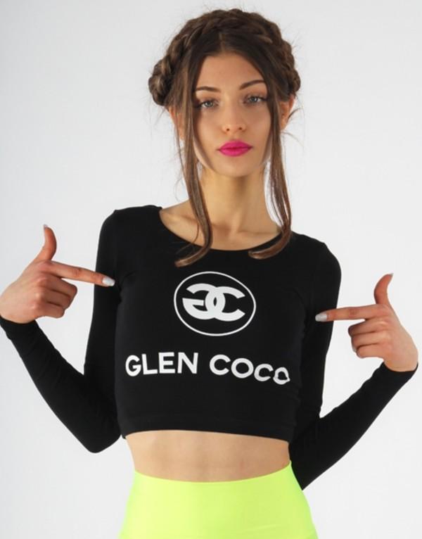 shirt glen coco mean girls cute black neon green skirt
