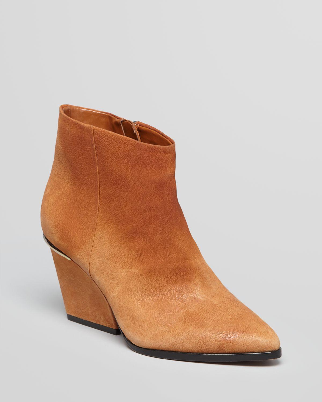 Boutique 9 Pointed Toe Wedge Booties - Isoke Low Heel | Bloomingdale's