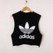 Classic back adidas swag style vest crop top tshirt fresh boss dope celebrity festival clothing fashion urban unique