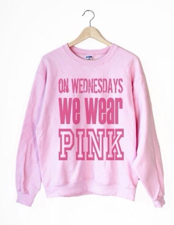 sweater on wednesdays we wear pink